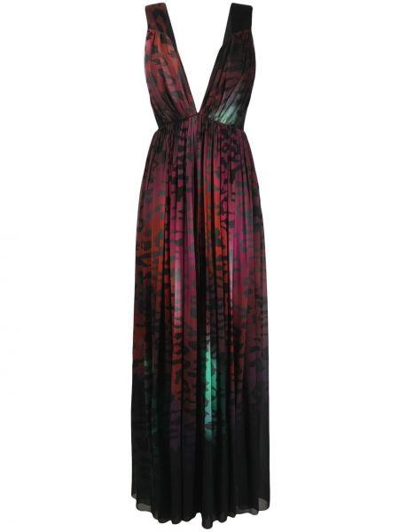 Платье макси леопардовое - черное Just Cavalli