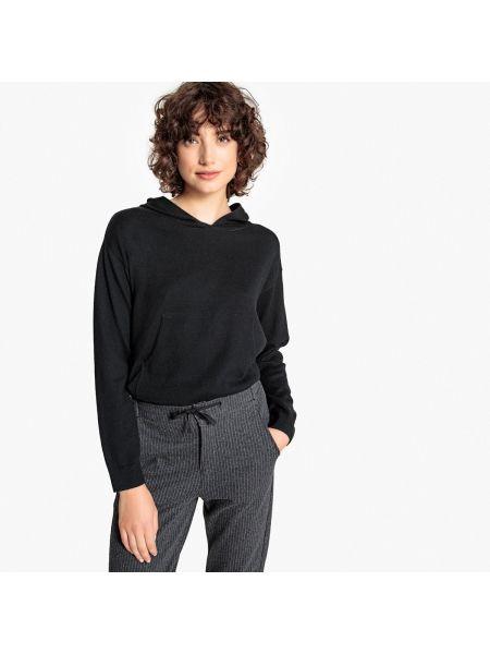 Пуловер кашемировый с капюшоном La Redoute Collections