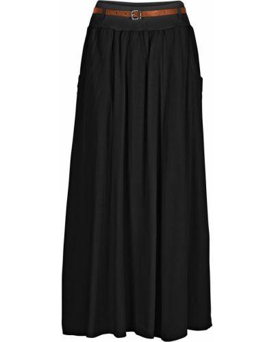Ажурная черная юбка макси Bonprix
