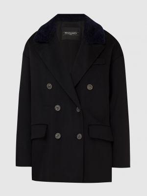 Черное шерстяное пальто Simonetta Ravizza