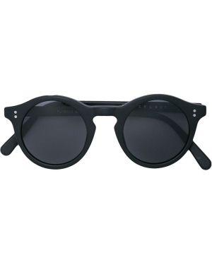 Муслиновые черные солнцезащитные очки круглые The Celect