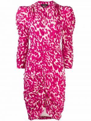 Sukienka długa z jedwabiu - różowa Isabel Marant