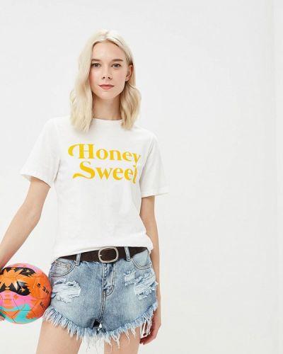 Белая футболка Glamorous