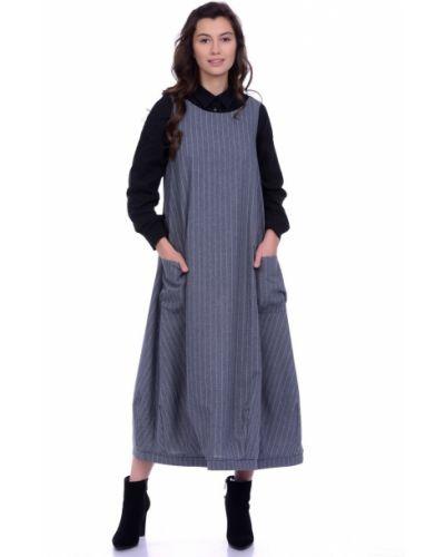 Платье с поясом в стиле бохо платье-сарафан Lautus