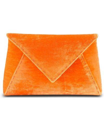 Pomarańczowa satynowa sprzęgło na łańcuchu Tyler Ellis