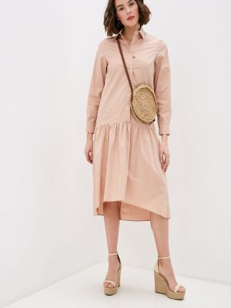 Платье платье-рубашка розовое Miss Miss By Valentina