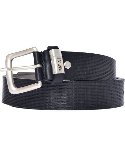 Черный ремень Armani Jeans