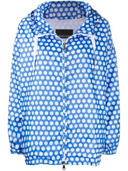 Синяя куртка с капюшоном на молнии Ermanno Ermanno