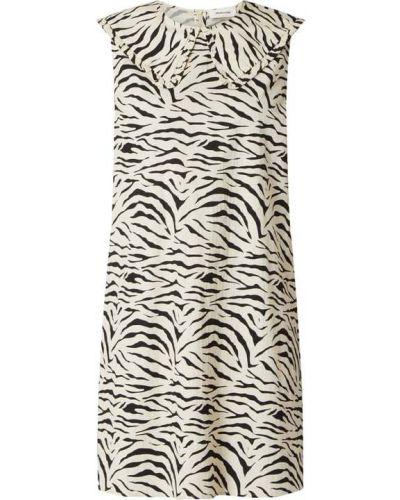 Sukienka z falbanami - biała Modström