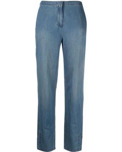 Хлопковые синие прямые джинсы Armani Exchange