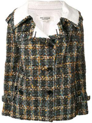 Шерстяной черный удлиненный пиджак двубортный Junya Watanabe Comme Des Garçons Pre-owned