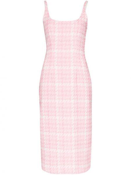 Платье миди розовое в клетку Alessandra Rich