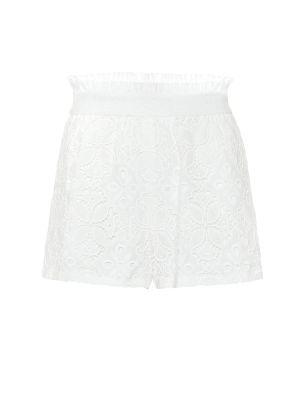 Плиссированная ватная хлопковая белая юбка мини Jonathan Simkhai