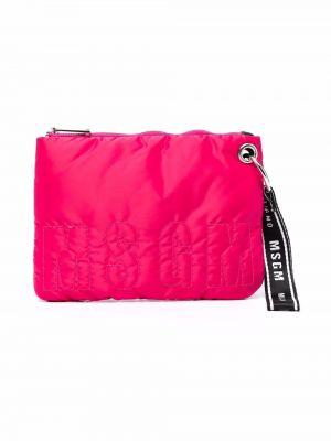 Różowa torebka z haftem Msgm Kids
