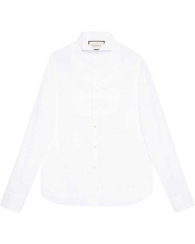 Biała koszula bawełniana Gucci