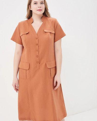 Коричневое платье Intikoma