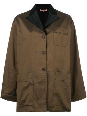 Хлопковая коричневая куртка винтажная Romeo Gigli Pre-owned