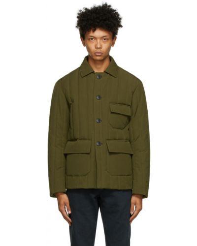 Теплая сатиновая черная стеганая куртка с воротником Doppiaa