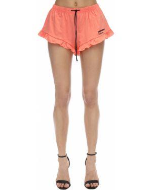 Персиковые шорты с оборками эластичные с завязками Dsquared2