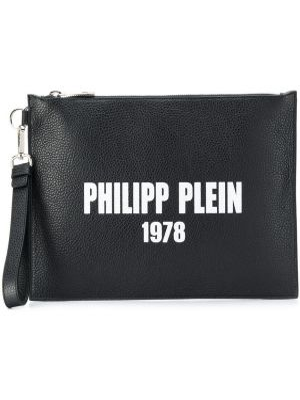 Клатч металлический на молнии Philipp Plein