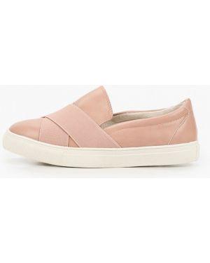 Мокасины розовый кожаные Zenden First