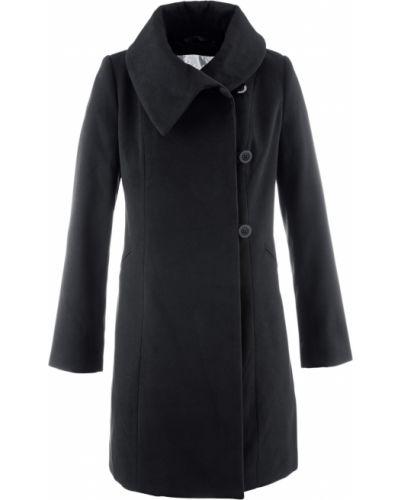 Укороченное пальто с запахом с воротником Bonprix
