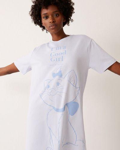 Biała piżama bawełniana krótki rękaw Undiz