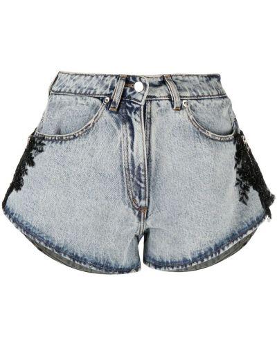 Серые хлопковые джинсовые шорты с карманами Almaz