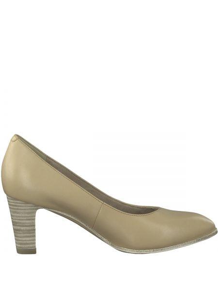 Туфли на высоком каблуке кожаные на каблуке Tamaris