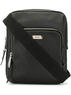 Кожаная сумка через плечо - черная Bally
