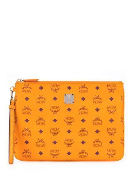 Skórzany torba z kieszeniami Mcm
