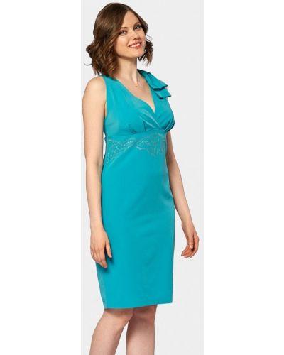 Коктейльное платье бирюзовый Ано
