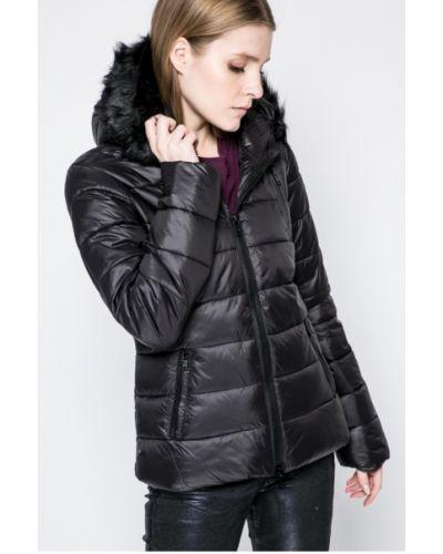 Куртка с капюшоном утепленная черная Sh