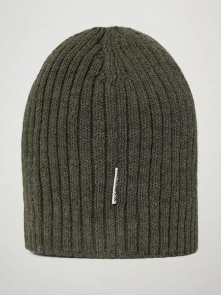 Шерстяная шапка бини - зеленая Napapijri