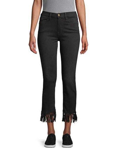 Черные прямые джинсы с карманами Frame Denim