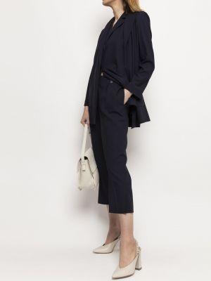 Niebieskie spodnie materiałowe Deni Cler Milano