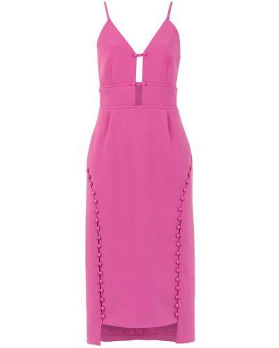 Платье миди розовое с открытой спиной Framed