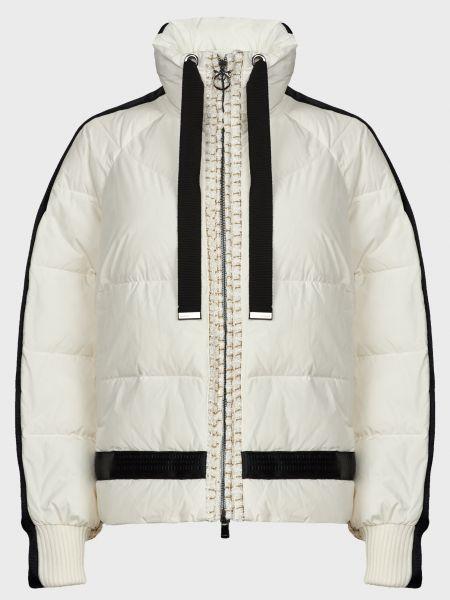 Белая куртка на молнии с подкладкой Pinko