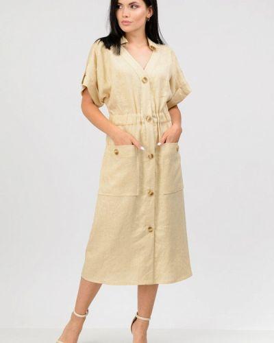 Повседневное платье - бежевое Raslov