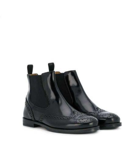 Ботинки челси черные Gallucci Kids