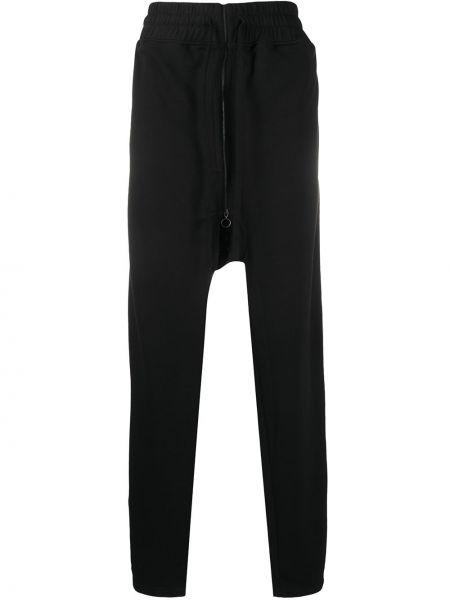 Черные брюки свободного кроя с поясом со стразами Botter