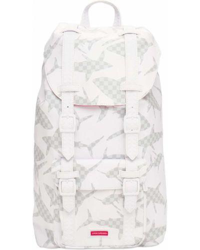 Biały plecak z klamrą Sprayground