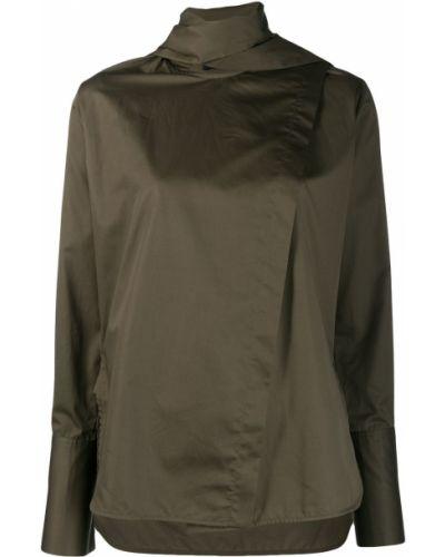Блузка с длинным рукавом в полоску с воротником-стойкой Eudon Choi