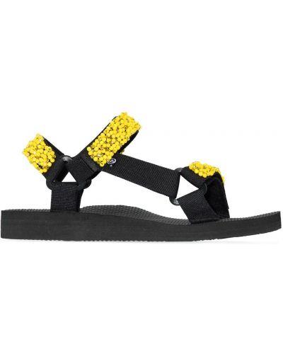 Gumowe czarne sandały plaskie Arizona Love