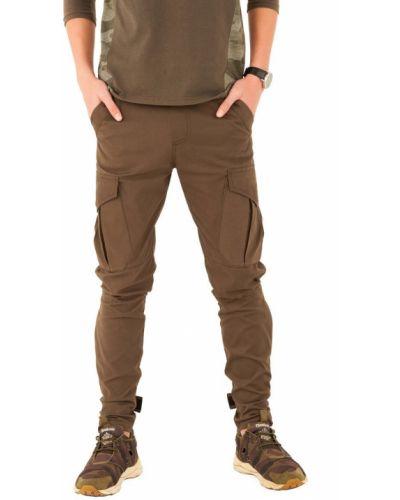 Зеленые брюки с карманами милитари Kit-lime