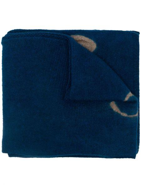 Синий кашемировый шарф Suzusan