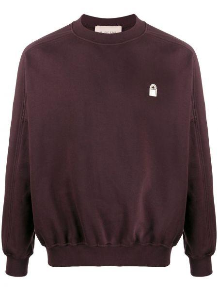 Fioletowa bluza z długimi rękawami bawełniana Buscemi