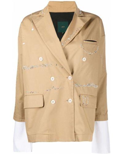 Пиджак двубортный с карманами на пуговицах Jejia