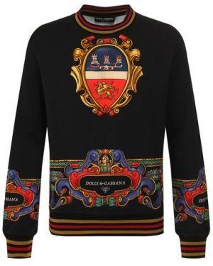 Свитшот с принтом черный Dolce & Gabbana