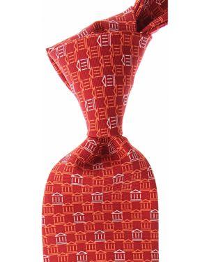 Czerwony krawat z jedwabiu Battistoni